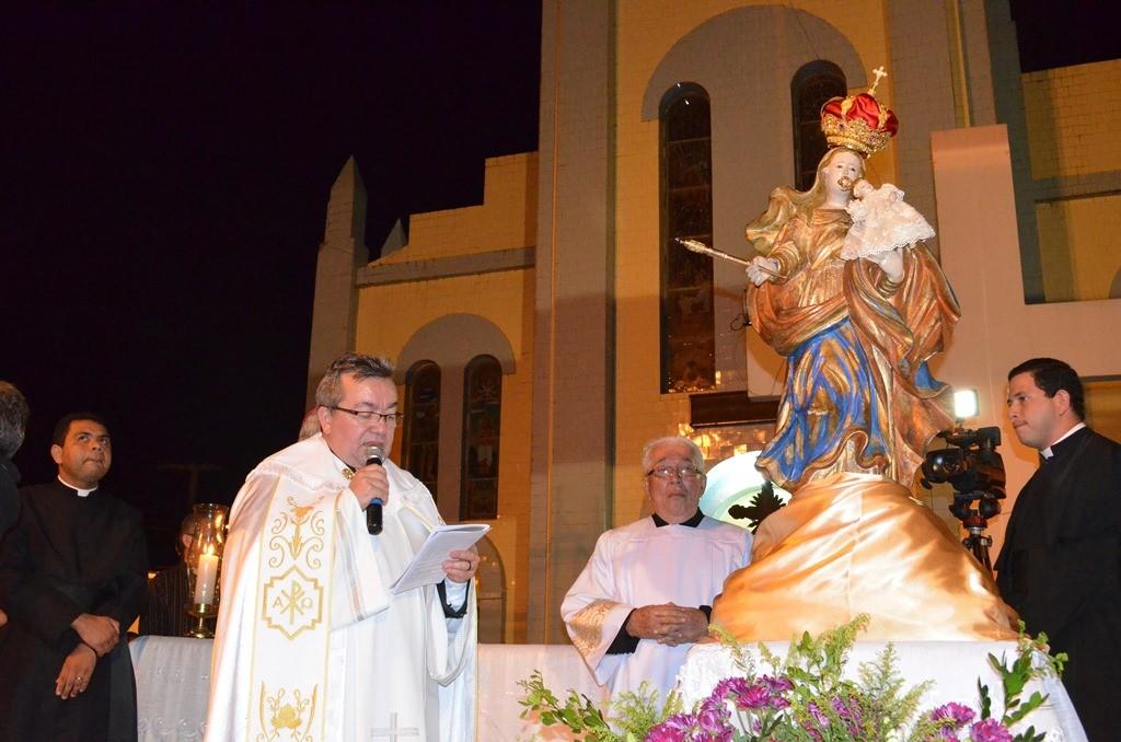 Acolhida da imagem de Nossa Senhora da Penha na Paróquia São Raimundo Nonato. (Foto: Patrícia Silva)