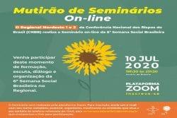 Regionais Nordeste 1 e Nordeste 2 promovem seminário online