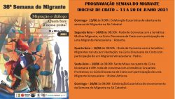 36ª Semana do Migrante na Diocese de Crato