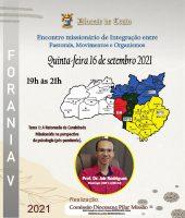 Pilar da Missão promove encontro de integração on-line na Forania 5